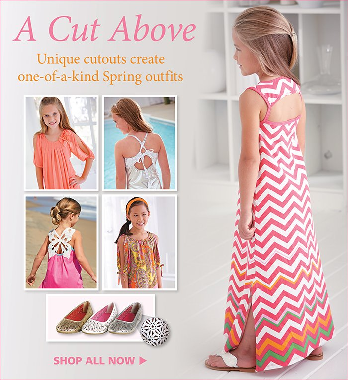 Unique cutouts create one-of-a-kind Spring outfits!