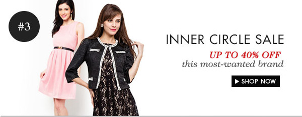 Inner Circle Sale - Up to 40% off