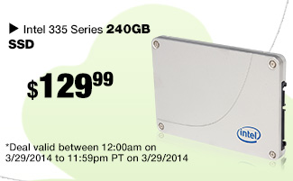 24 hours only. Intel 335 Series 240GB SSD