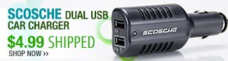 scosche dual usb car charger