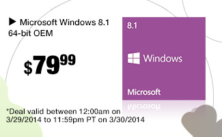 48 hours only. Microsoft Windows 8.1 64-bit OEM