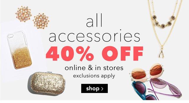 jewelry 40% off