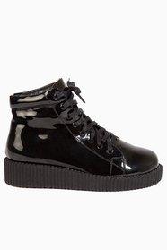 High Shine Flatform Boots $58