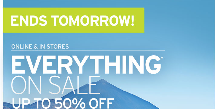Everything On Sale - Up To 50% OFF