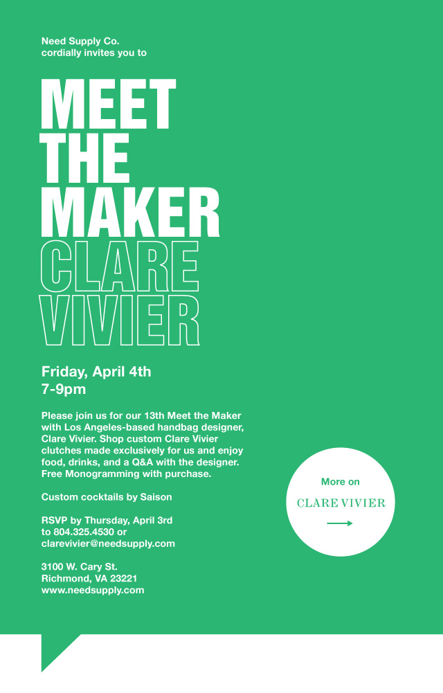 Meet The Maker: Clare Vivier