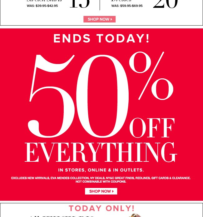 50% Off Everything Ends Today!