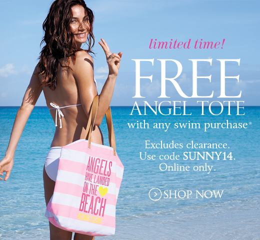 Free Angel Tote With Any Swim Purchase