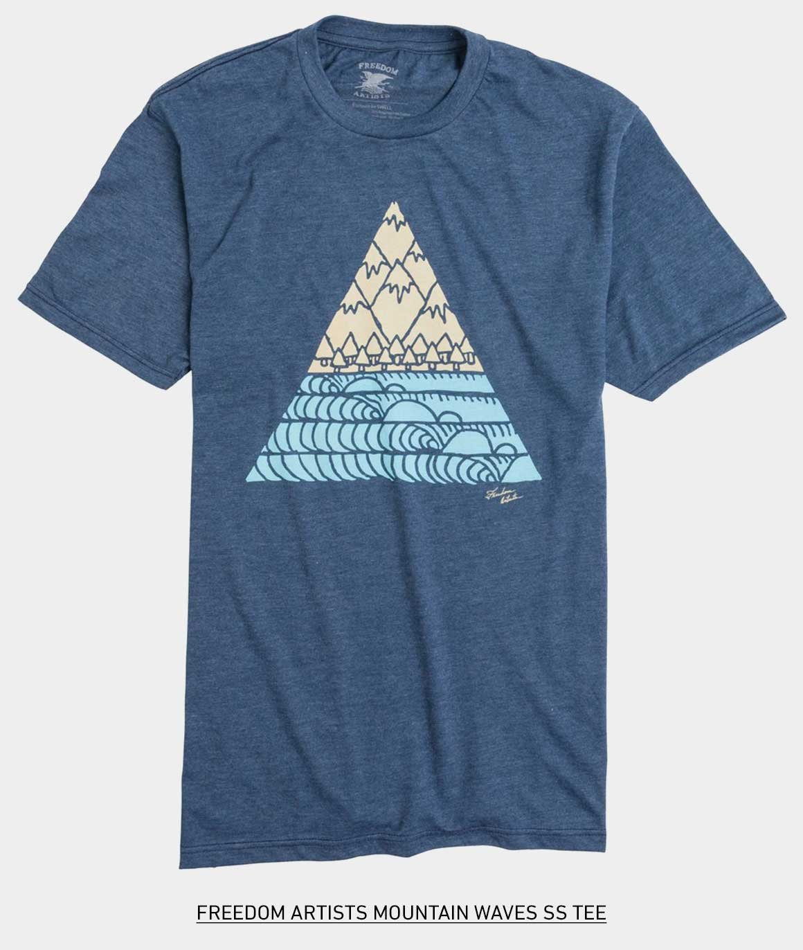 FREEDOM ARTISTS MOUNTAIN WAVES SS TEE