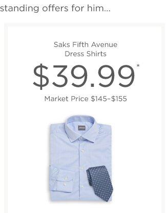 Shop Saks Fifth Avenue Dress Shirts