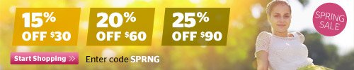 Spring Sale! Up to 25% off