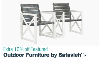 Extra 10% off Featured Outdoor Furniture by Safavieh**