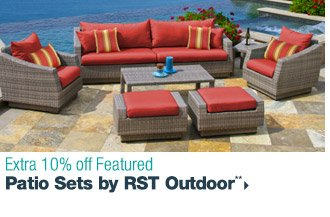 Extra 10% off Featured Patio Sets by RST Outdoor**