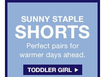 SUNNY STAPLE SHORTS | TODDLER GIRL