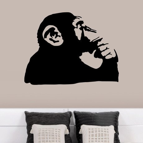 Banksy Thinking Monkey Wall Decal
