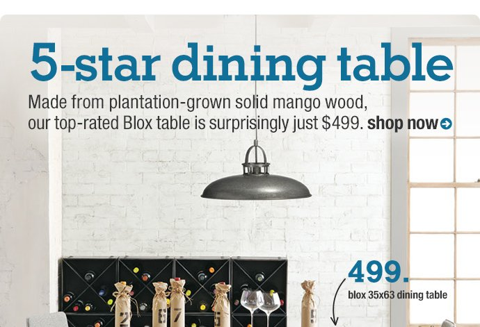 5-star dining table
