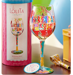 Birthday Bash Wine Glass Shop Now