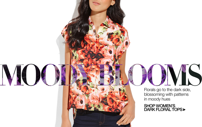 Shop Dark Floral Tops - Ladies