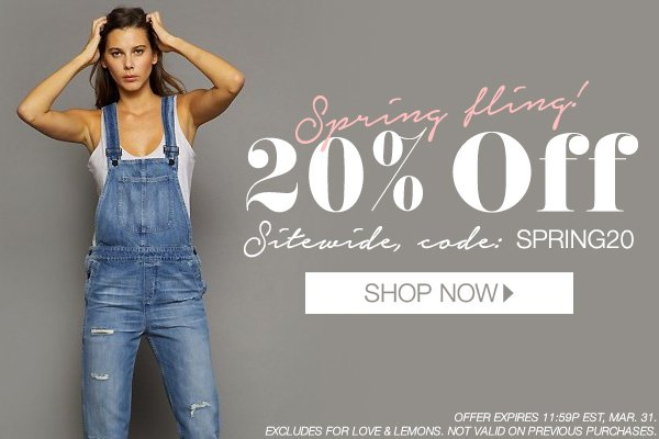 Take 20% off sitewide!