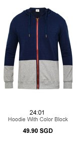 Hoodie With Color Block 49.90 SGD
