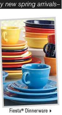 It's the perfect time to buy new spring arrivals: Shop Fiesta® Dinnerware