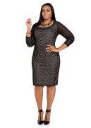 Chevron Crochet Back Keyhole Dress