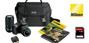 Nikon D5200 DSLR Camera 18-55mm and 55-300mm VR Lens Bundle