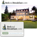 The Original BedandBreakfast.com $100 E-Card