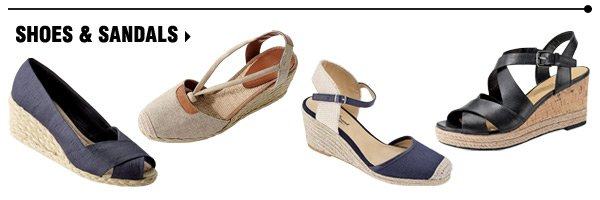 Spring is right around the corner. Are you ready for it? Shop everyday essentials, right here! Shoes & sandals.