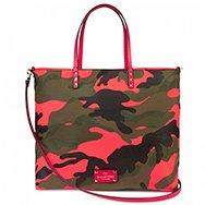 VALENTINO - Camouflage canvas tote