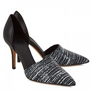 VINCE - Claire leather and python pumps
