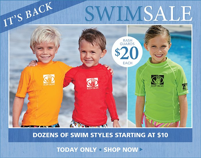 Dozens of Swim Styles starting at $10, Sale Ends Tonight