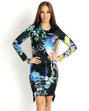 Just Cavalli Printed Slim Dress Made In Italy