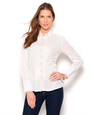 Como No? Button-Up Embroidered Blouse