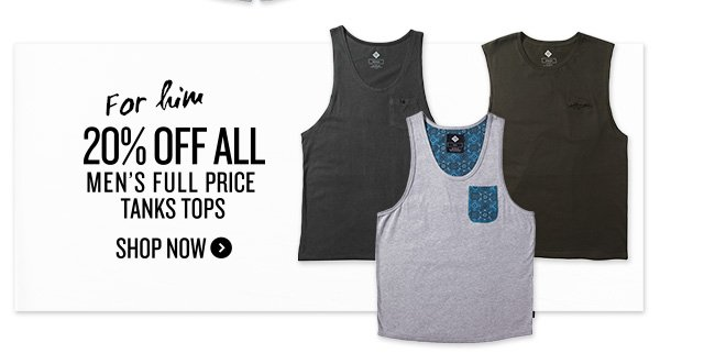 20% off Tank Tops