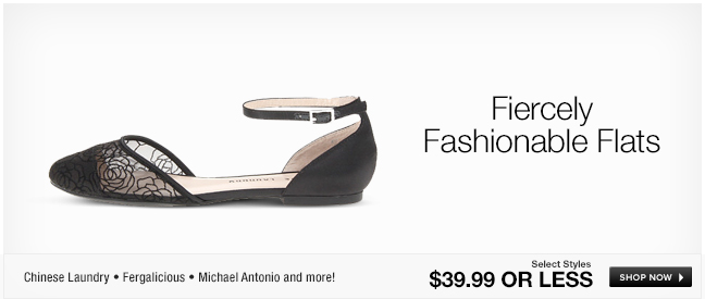 Fiercely Fashionable Flats