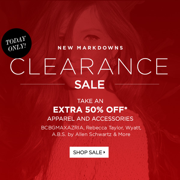 Clearance Sale: Extra 50% Off