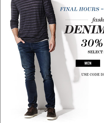 Fashion Denim Days 30% Off - Men