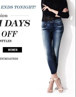 Fashion Denim Days 30% Off - Women
