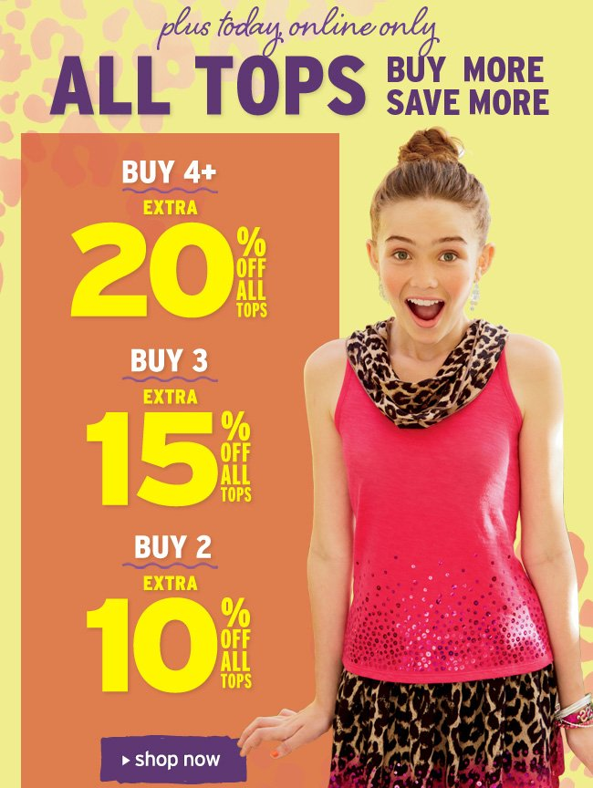 Buy More, Save More on All Tops