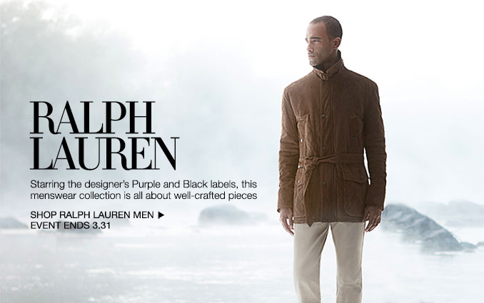 Shop Ralph Lauren Black and Purple Label - Men