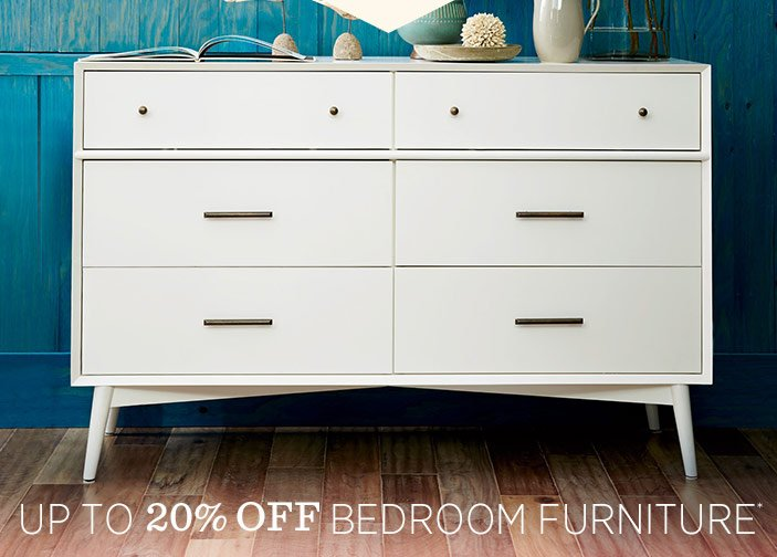 Up To 20% Off Bedroom Furniture*