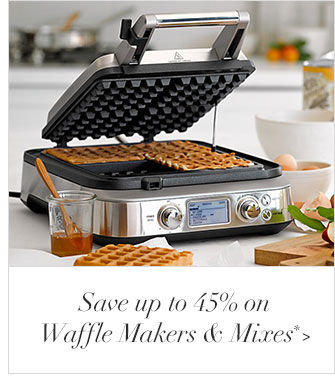 Save up to 45% on Waffle Makers & Mixes*