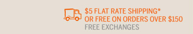 $5 FLAT RATE SHIPPING*