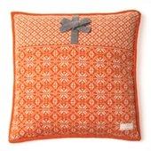 Lovely Knit Pillow Case, 50x50 cm, Orange