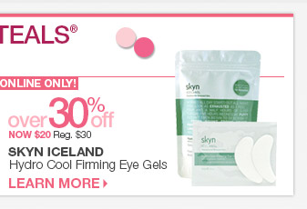 Monday 3/31 Beauty Steal - Skyn Iceland Hydro Cool Firming Eye Gels over 30% Off - Now $20