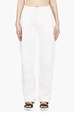 ANNE SOFIE MADSEN White Coated CLIFF JUMPER Lounge pants for women