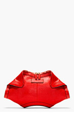 ALEXANDER MCQUEEN Red Leather De Manta City Clutch for women