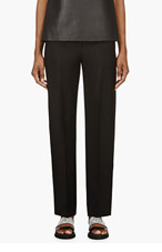 MAISON MARTIN MARGIELA Black Low Waist Pleated trousers for women