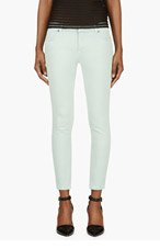 CHRISTOPHER KANE Mint Cropped Skinny Jeans for women