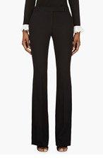 ALEXANDER MCQUEEN Black Low Rise Boot Cut Trousers for women